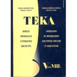 TEKA Komisji Motoryzacji i Energetyki Rolnictwa PAN Oddział w Lublinie, tom VIII A
