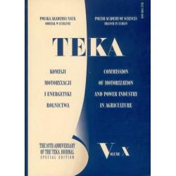 TEKA Komisji Motoryzacji i Energetyki Rolnictwa PAN Oddział w Lublinie, tom X