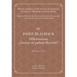 "Tomasz Jasiński wyd., ""IV JOSEPH BLACHACK, Offertorium Justus ut palma florebit """
