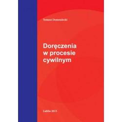 """Tomasz Demendecki, """"Doręczenia w procesie cywilnym """""""